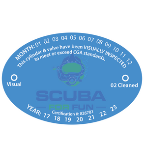 3.5x3.5 oval stickers Scuba for Fun.png