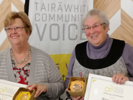 TCV awards Life Membership to Judy & Nona in recognition of their contribution  to the community