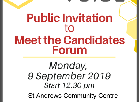 You're invited to Meet the Candidate Forum
