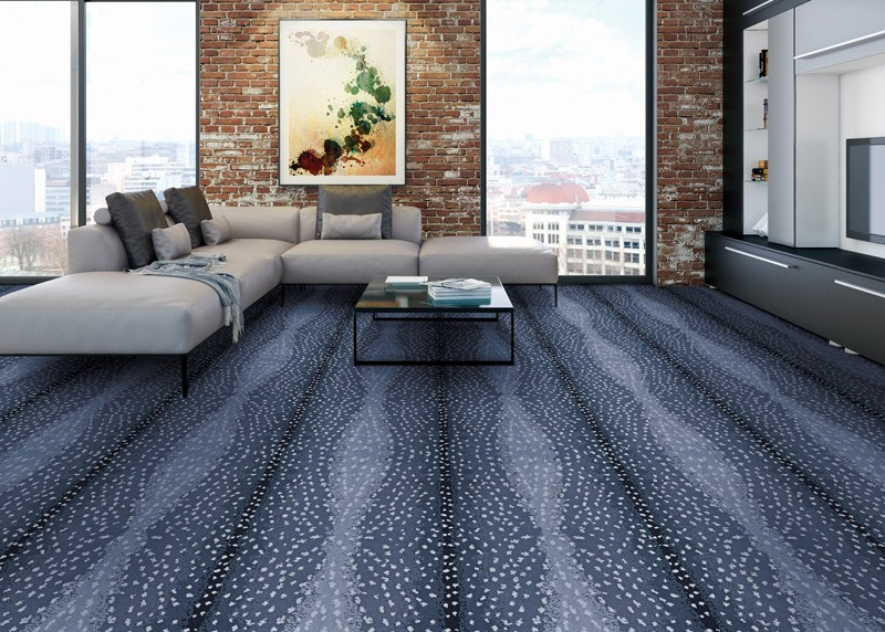 Antelope wall to wall carpet in living room