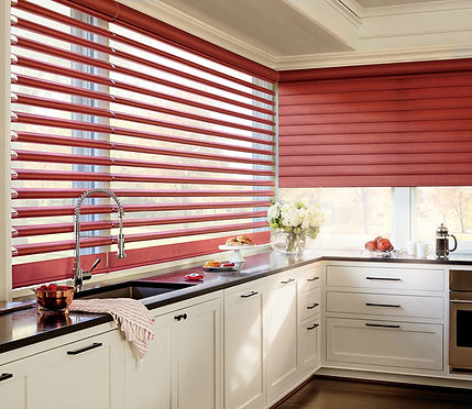 Sheer Blinds that look like Roman Shades