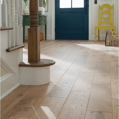 Wide Plank Flooring in foyer