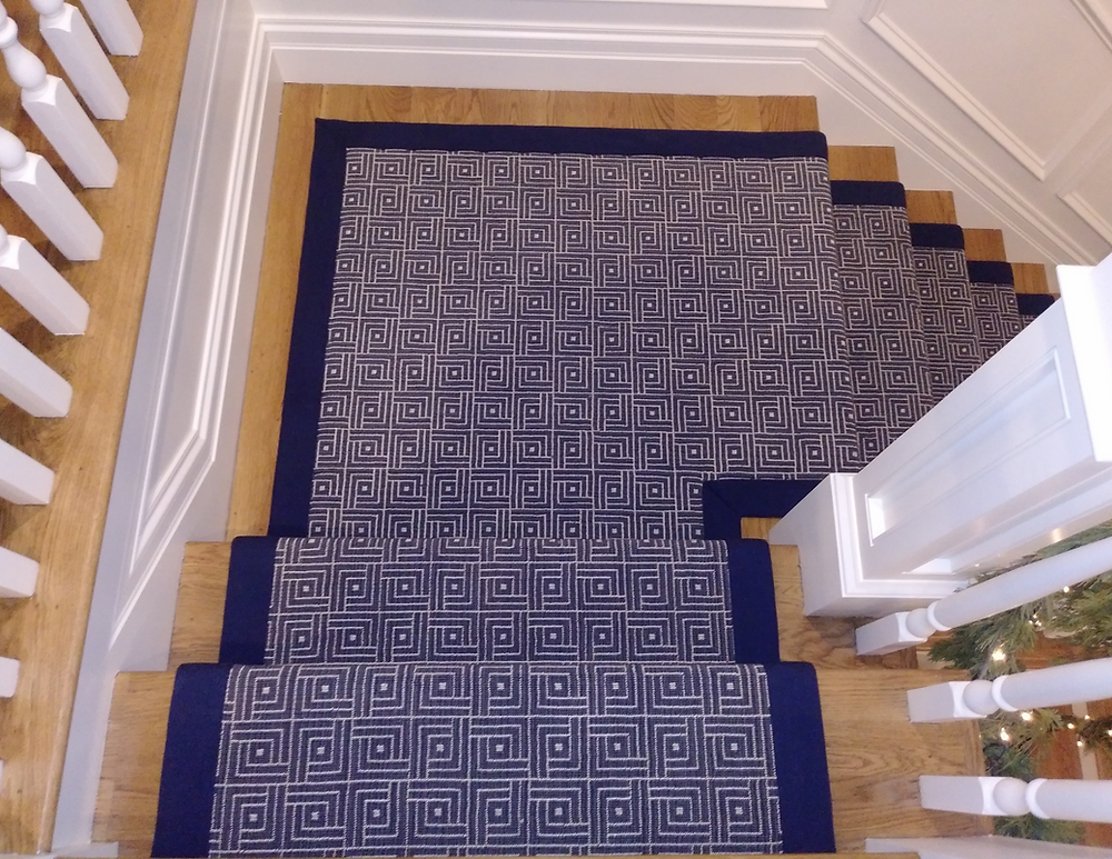 geometric stair runner