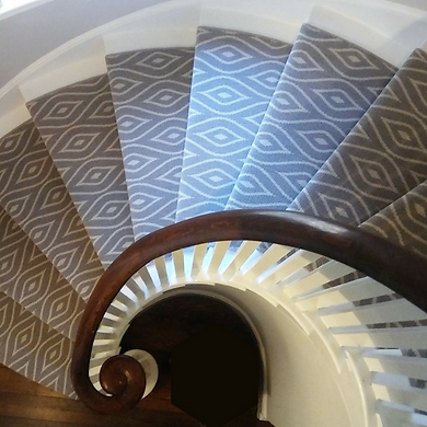 Stair Runner on Spiral Staircase