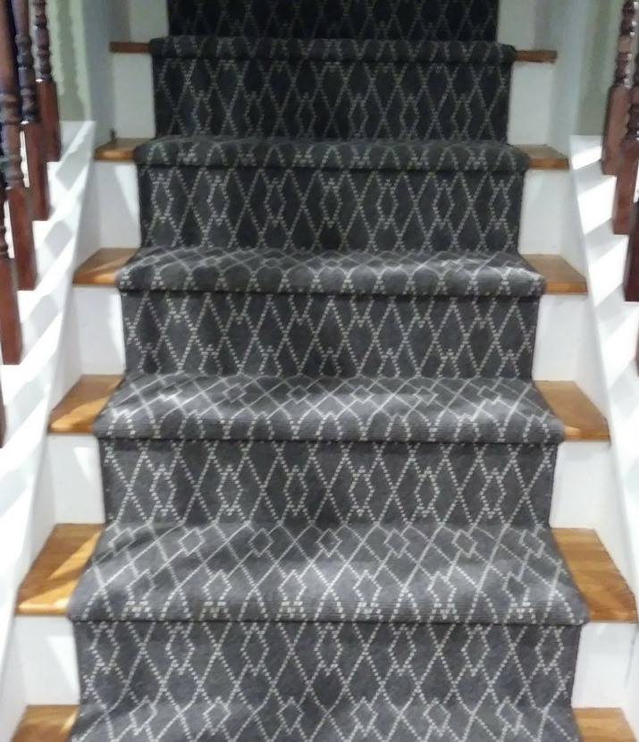 grey stair runner