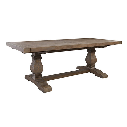 """Caleb 114"""" Extension Dining Table in Desert Gray"""
