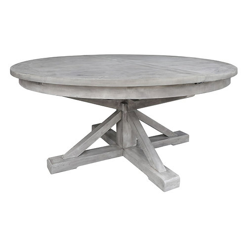 """Paris Extension Dining Table 63""""-79"""" in Antique Ivory"""