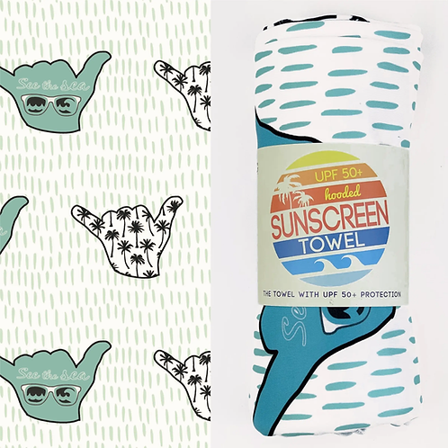 Full Size UPF 50+ Sunscreen Towel, Tropical Paradise