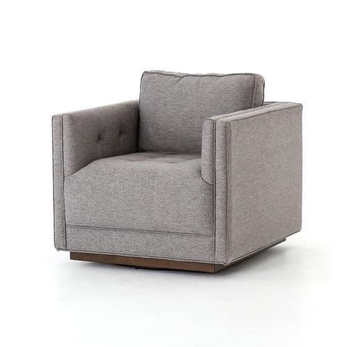 Kiera Swivel Chair in Noble Greystone