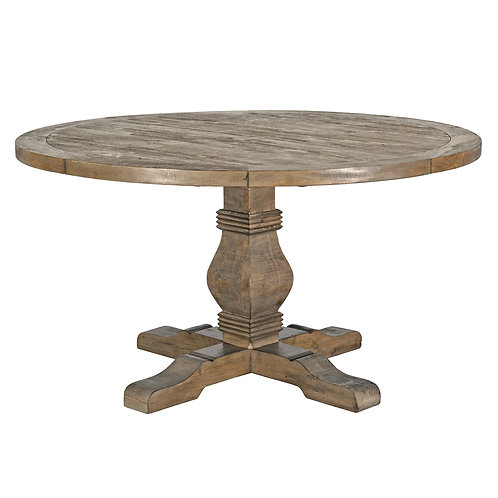 """Caleb 55"""" Round Dining Table in Desert Gray"""
