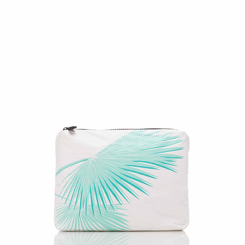 SMALL Tropical Fan Palms Pouch in Pool