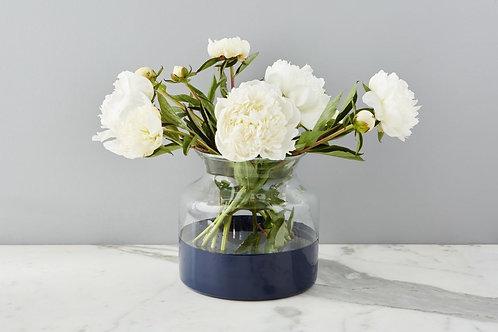 Navy Colorblock Flower Vase