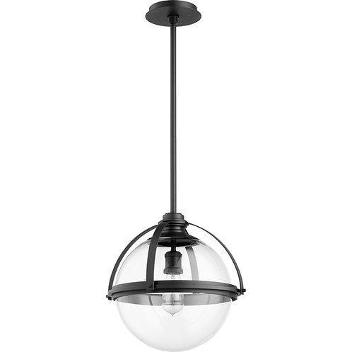 Black Transitional Globe Pendant, Medium