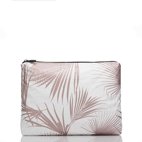 MID Day Palms Pouch in Rose Gold