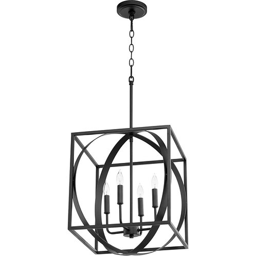Black Transitional Cage Pendant
