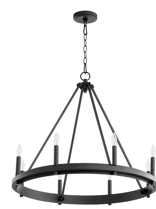 Aura 8LT Chandelier-Noir