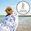 Thumbnail: Full Size UPF 50+ Sunscreen Towel, Tropical Paradise