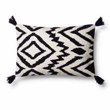 BLACK & WHITE IKAT SMALL