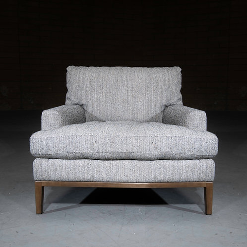 Lewis Occasional Chair in Metallic Oyster
