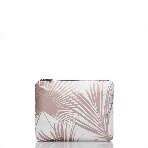 SMALL Day Palms Pouch in Rose Gold