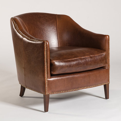 Madison Occasional Chair, Antique Saddle