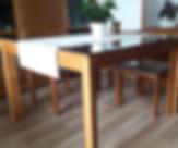 Tavolo legno noce 6 sedie