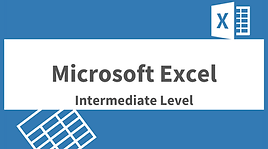 Microsoft Excel Intermediate Level
