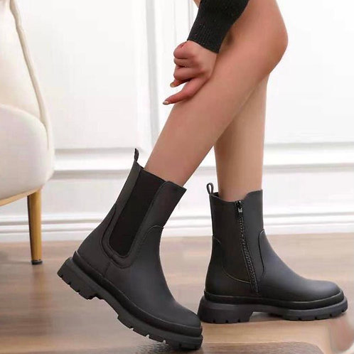 Chunky chelsea style ankle boots