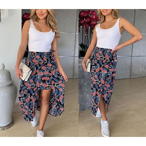 Girl in Mind - Floral print wrap skirt