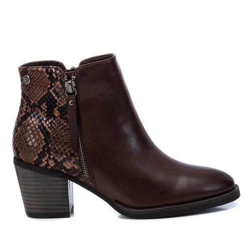 XTI - Snake print ankle boot
