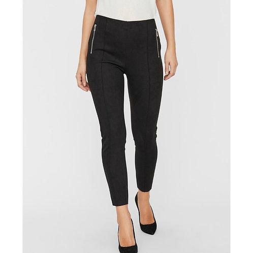 Vero Moda - Suedette zip detail leggings