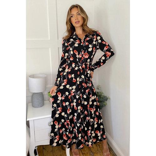 Girl in Mind - Floral shirt dress
