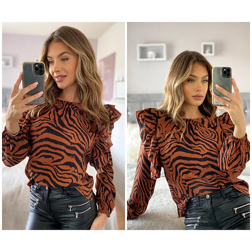 Girl in mind - Tiger print top