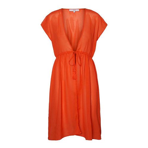 Vero Moda - Chiffon kaftan cover up - Orange