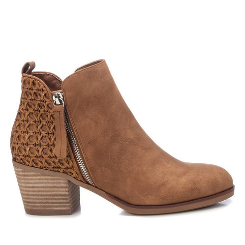 XTI - Woven detail ankle boot