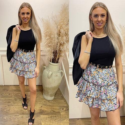 Floral rara mini skirt