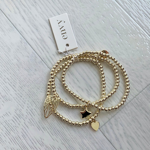 Envy - Star, heart & wings bracelet