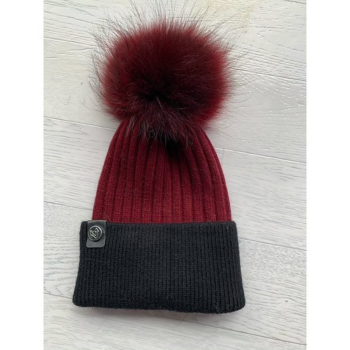 Luxy London - HARLEY 2 tone Pom Pom hat