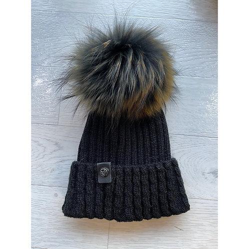 Luxy London - BOSTON Multi colour Pom Pom hat