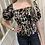 Thumbnail: Leopard print puff sleeve top
