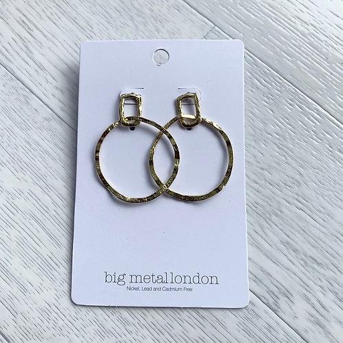 Big metal - circle earrings