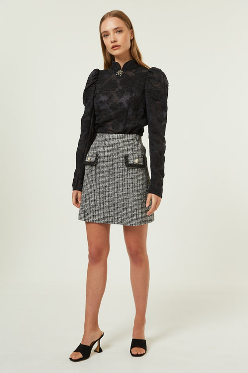 Jovonna -CATARINA tweed pocket skirt