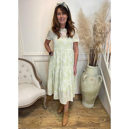 ICHI - 'SAMSA' printed dress