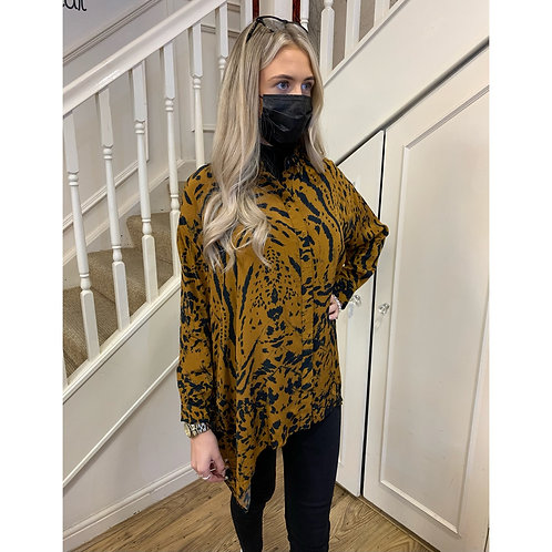 Religion - Animal print oversized blouse