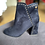 Thumbnail: XTI - Eyelet detail heeled boot - Navy