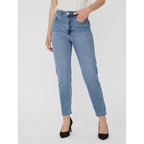 Vero Moda - High rise relaxed tapered light wash jeans