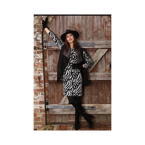 Pomodoro - zebra jacquard dress