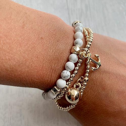 Envy - Anchor layered bracelet