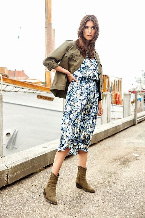 Soya Concept - Blur print long sleeve dress