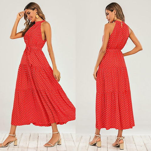 Polka dot dress - Red